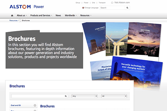 Copywriters for power generation brochures
