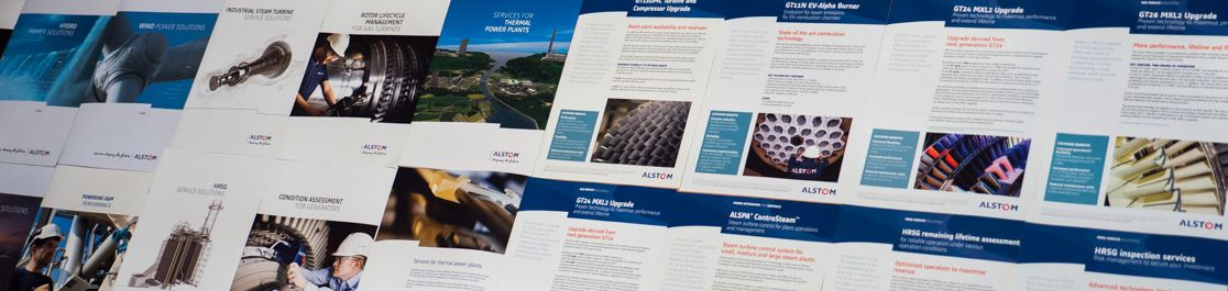 Product leaflets copywriter for Alstom